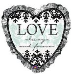 28 Always & Forever Heart Mylar Balloon