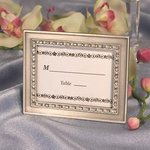 Clear Rhinestone Place Card Frame