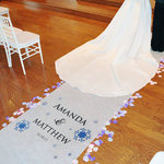 Winter Snowflake Personalized Aisle Runner