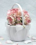 Porcelain Daisy Flower Girl Basket