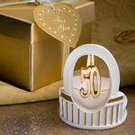 "Elegant ""50"" Design Candle"