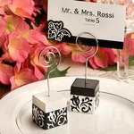 Damask Design Place Card Holder