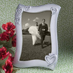 Silver Heart Design Photo Frame