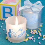 Baby Boy Themed Candle Favor