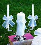 Simplicity in White Unity Candle & Tapers Set