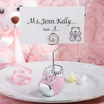 Pink Baby Bootie Place Card Holder