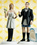 Groom Not In Charge Without Pants Cake Topper