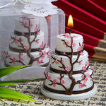 Cherry Blossom Design Cake Candle Favor