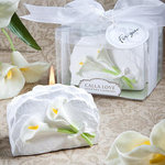 Calla Lily and Stone Candle Favor