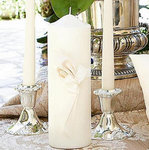 Satin Calla Lily Unity Candle - Ivory or White!