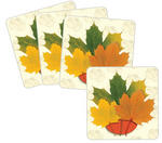 Autumn Maple Leaf Design Coasters - Pkg 8