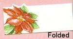 Poinsettia Placecards - Pkg 12