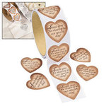 Gold Heart Thank You Stickers - Pkg 100