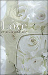 Love One Another White Roses Blank Wedding Programs - Pkg 100