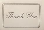 Thank You Cards - Pkg 8 - 4 Colors!