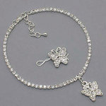 Rhinestone Butterfly Anklet & Toe Ring