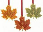 Dangling Leaf Decorations - Pkg 3
