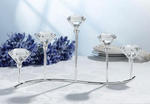 Five Diamond Design Silver Plated Candleholder