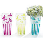 Glass Butterfly Vase