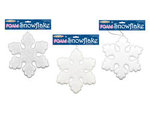 Glitter Foam Hanging Snowflake Decoration