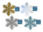 8 Glitter Snowflake Decoration - Colors!