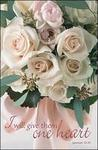 Give them One Heart Peach Blank Wedding Programs - Pkg 100