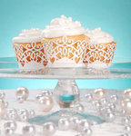 David Tutera Wedding Collection - Pearl Cupcake Wrappers (Set of 24 Wraps)