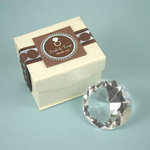 Diamond Shaped Crystal Paperweight - Medium