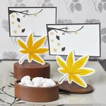 Leaf Place Card Favor Boxes with Designer Place Cards (set of 12)