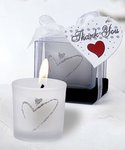 Heart Design Frosted Glass Candle