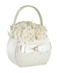 Ivory Pearl Flower Basket