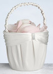 Cream Sash Flower Basket
