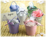 Tin Favor Pails - 6 Colors! - Pkg 12