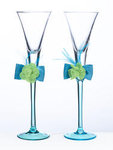 Blue & Green Toasting Glasses