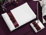 Plum Flower Guest Book with Pen Set