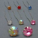 1/4 Rhinestone Hair Pin - Colors!