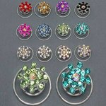 Rhinestone Burst Hair Spirals - Colors!