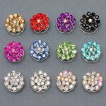 Circles of Color Rhinestone Hair Spiral - Colors!