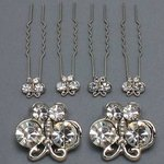 Clear Butterfly Flat Hair Pin - Pkg 4