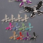 Rhinestone Butterfly Barrette - Colors!