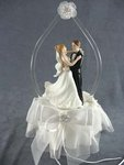 Glass Arch Dancing Couple Cake Topper