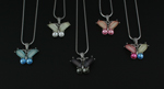 Crystal Butterfly Necklace - 5 Colors!
