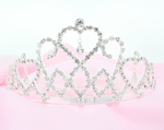 Trio of Hearts Rhinestone Tiara