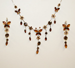 Brown & Butterscotch Butterfly Necklace Set