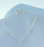 Austrian Crystal Marquis Drop Necklace Set