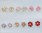 Rhinestone Hair Flower Spiral - 6 Colors!