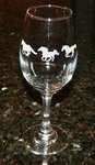 Galloping Horses Western Wedding Cowboy Theme Glasses