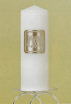 Double Horseshoe Unity Candle - White or Ivory
