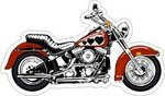 Motorcycle Favor or Invitation Stickers