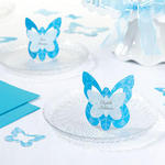 Blue Butterfly Place Cards - Pkg 12